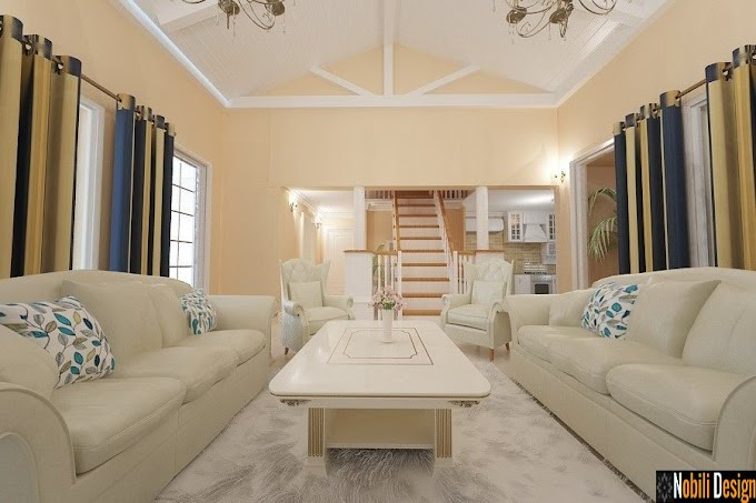 Design interior living casa stil clasic - Amenajare interioara casa in Bucuresti