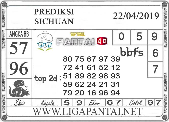 """Prediksi Togel """"SICHUAN"""" PANTAI4D 21 APRIL 2019"""