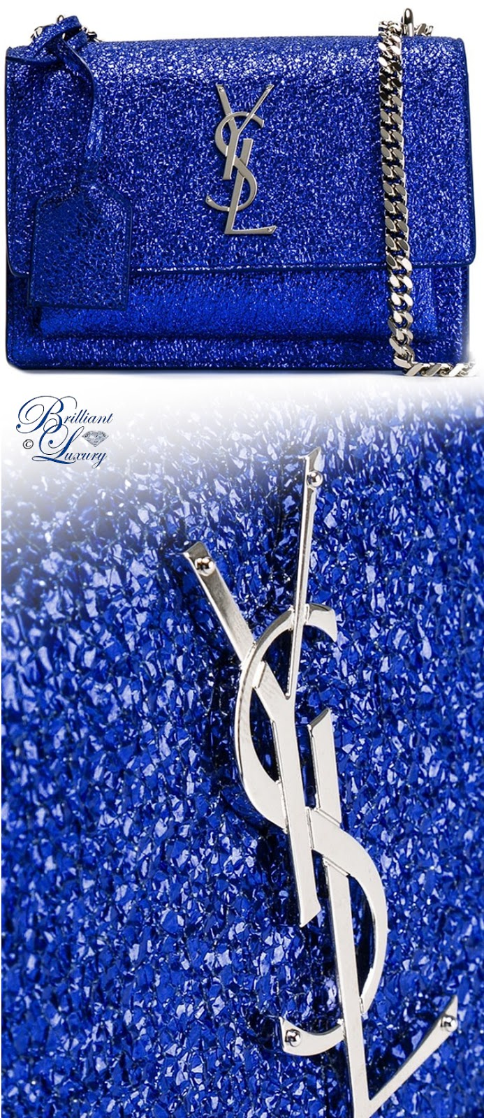 Brilliant Luxury ♦ Saint Laurent Small Sunset Monogram Satchel