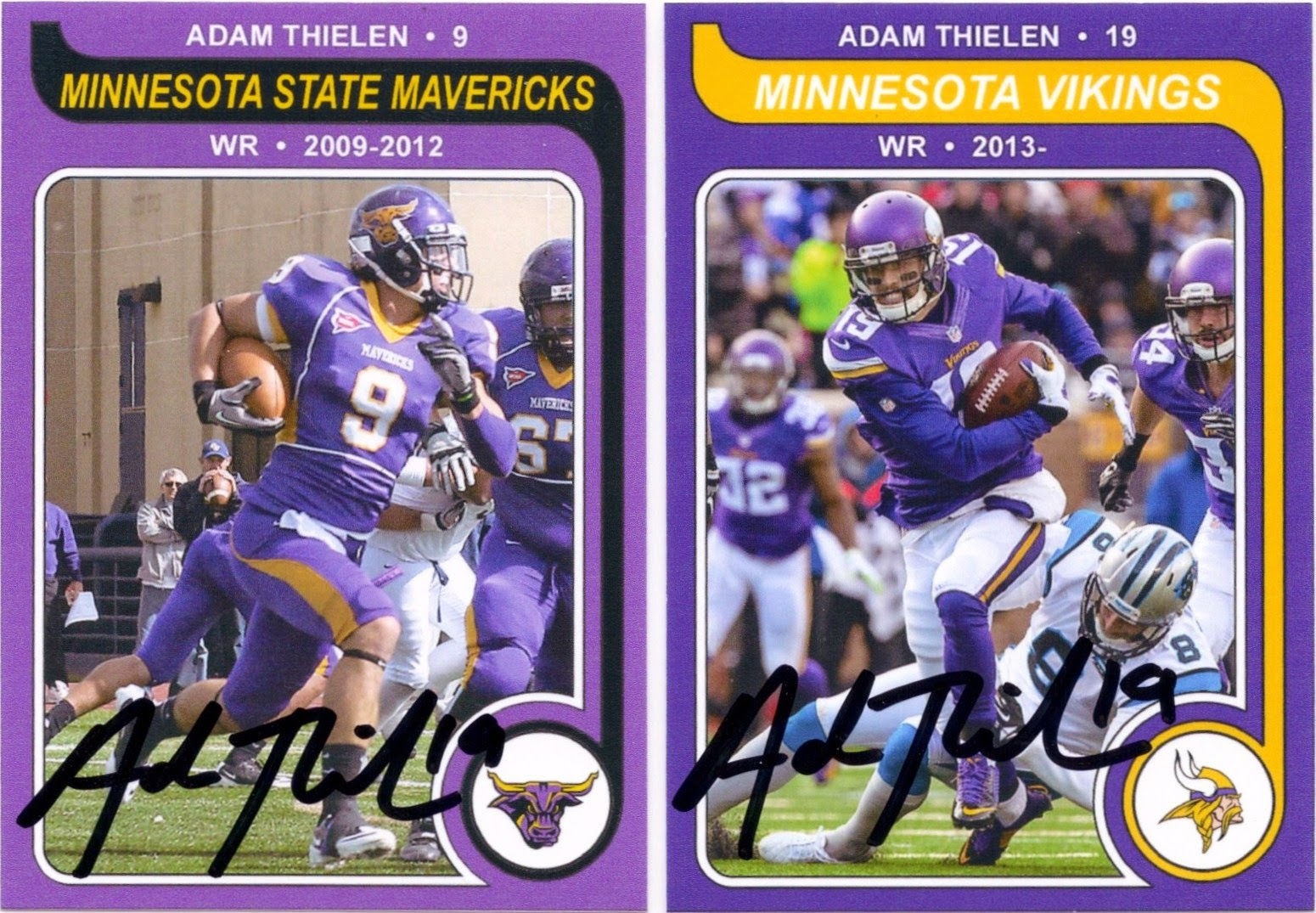 the best attitude d6e6d 5d573 Minnesota Sports Autograph Project: ADAM THIELEN