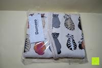 Verpackung: Damero Rollentasche für Gelstift Schreibzubehör gerollter Halter mit Leiwand für Buntstift Reiseorganisator-Beutel für Künstler, Mehrzweck (keine Bleistifte im Lieferumfang enthalten), 48 Löcher, Katzen