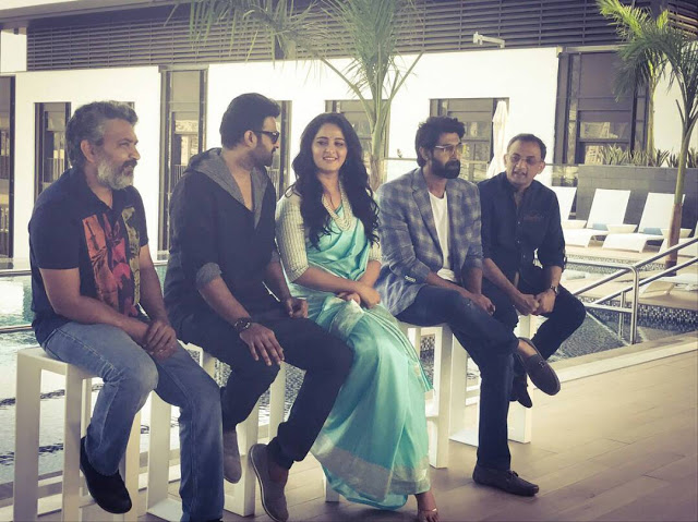 Baahubali Team at Dubai for Baahubali 2 Promotions Stills
