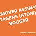 Remover assinar postagens (atom) do Bogger