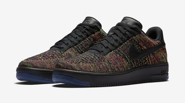Nike preto Air Force Low Flyknit