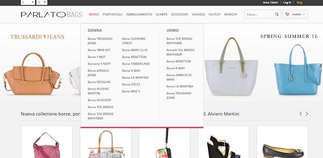 store parlato per lo shopping online: borse, scarpe, accessori e abbigliamento