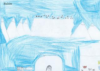 Dibujo sobre la minería en Quirós