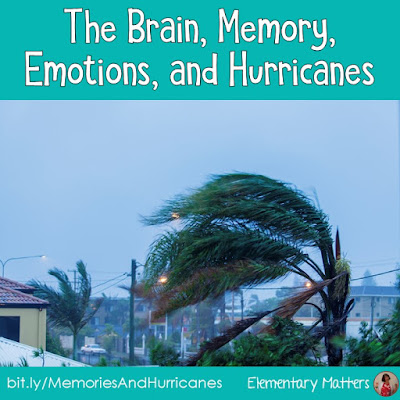 The Brain, Memory, Emotions, and Hurricanes. Here's a story about my very first day of school, and how the brain is closely related to emotions.