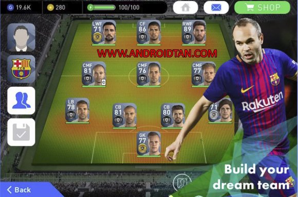 Pro Evolution Soccer 18 Mod Apk PES 2018 for Android
