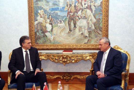 Filip Vujanovic and Gramoz Ruci meeting