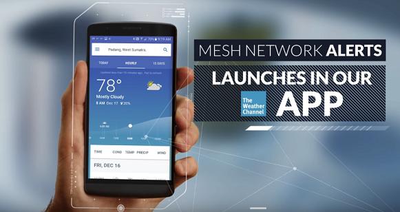 تطبيق احوال الطقس The Weather Channel يعمل بدون إتصال بالانترنت