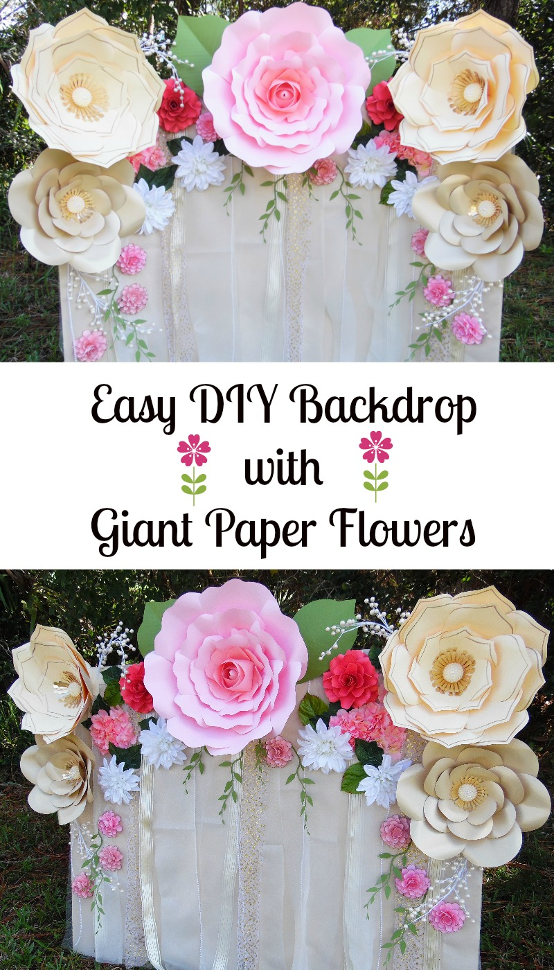 mama s gone crafty easy paper flower backdrop assembly