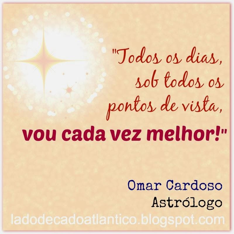 """Imagem de fundo com cor salmão do banner com a frase """"Todos os dias, sob todos os pontos de vista, vou cada vez melhor!"""", de Omar Cardoso"""