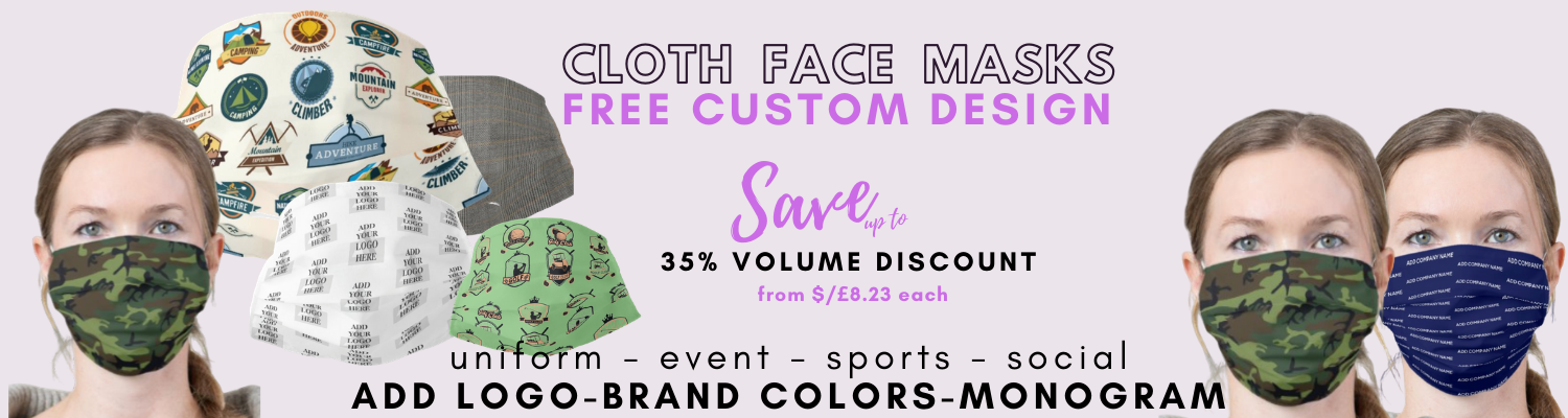 FREE CUSTOM DESIGN FOR FACEMASKS