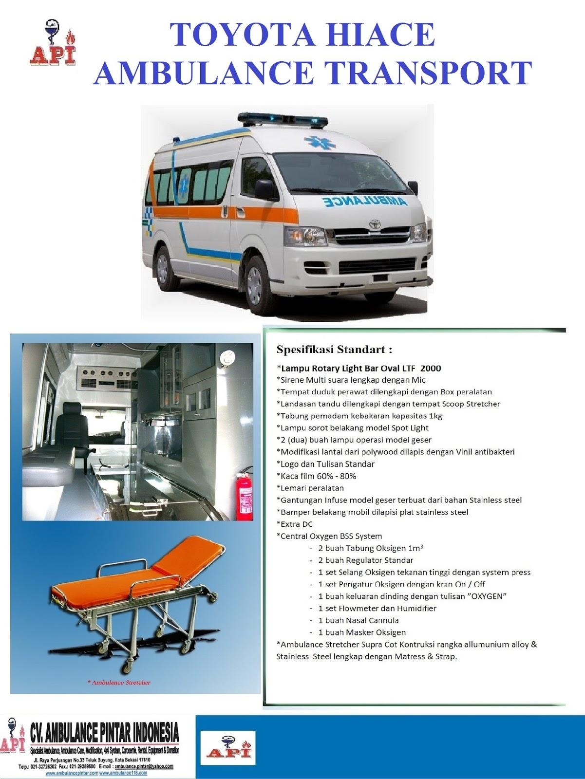 Ambulance Toyota Hiace Commuter MENJUAL DAN MENYEWAKAN MOBIL AMBULANCE