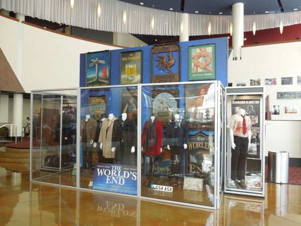 Worlds End movie costume prop exhibit