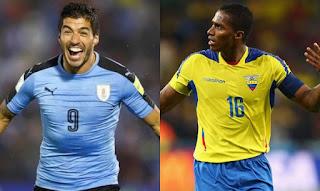 Uruguay vs Ecuador en Eliminatorias Sudamericana Rusia 2018