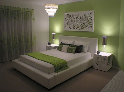 3 I Started With The Bedroom First We Choose Green Theme That Can Gives Calm Effect