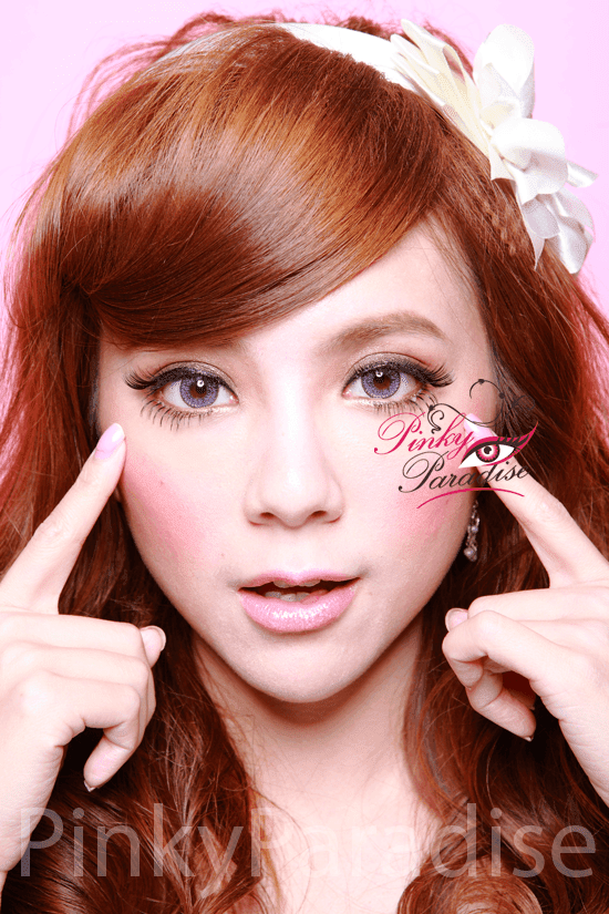 Geo Nudy Violet Circle Lenses (Colored Contacts) Model 2