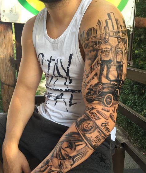 Gangster Tattoos Sleeves 30904