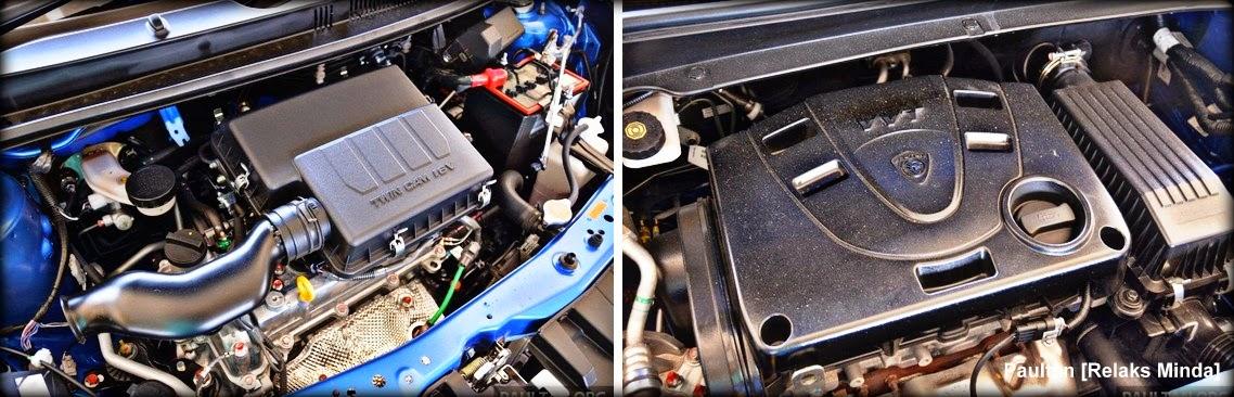 Perodua Myvi Baru (facelift) 2015 vs Proton Iriz