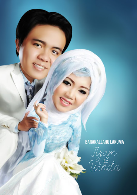 Karikatur Wedding Ilzam & Winda