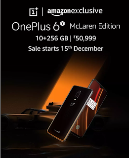 OnePlus 6T McLaren Edition Oneplus 7 Amazon exclusive