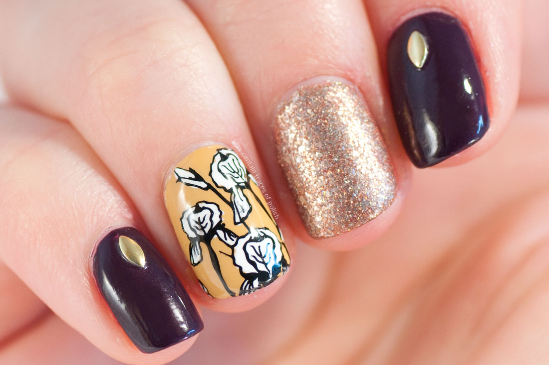 Yellow Flower Skittlette Nails - May contain traces of polish