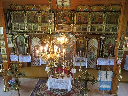 Ikonostas cerkwi pw. św. Mikołaja Cudotwórcy z Zyndranowej.