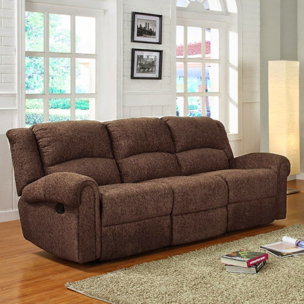Chenille Reclining Sectional Sofas