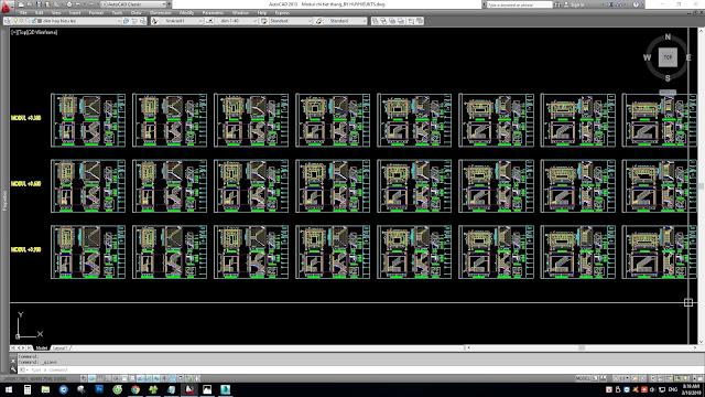 File mẫu bản vẻ 2d khai triển cầu thang theo modul