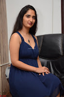 Radhika Mehrotra in a Deep neck Sleeveless Blue Dress at Mirchi Music Awards South 2017 ~  Exclusive Celebrities Galleries 126.jpg