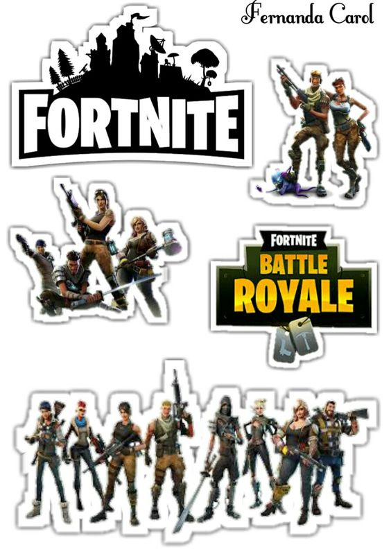 picture regarding Fortnite Printable called Fortnite No cost Printable Cake Toppers. - Oh My Fiesta! for Geeks