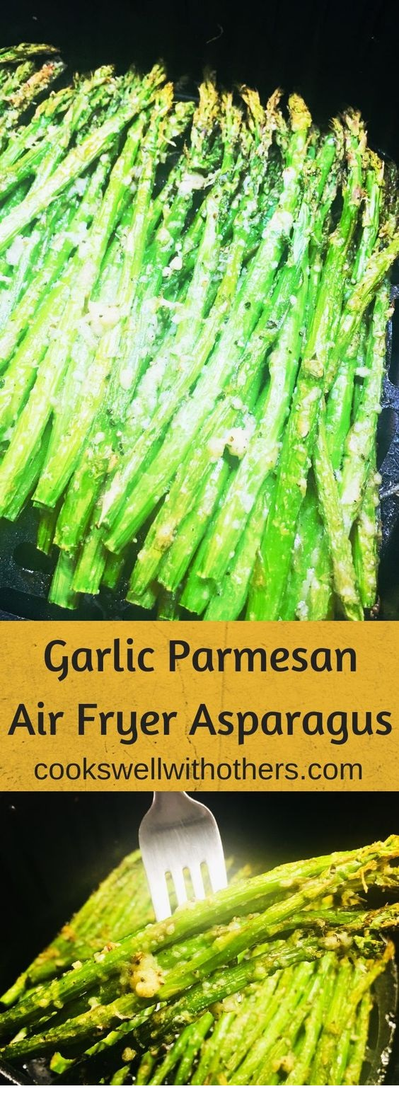 Garlic Parmesan Air Fryer Asparagus