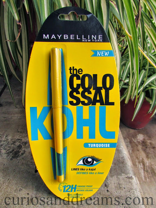 Maybelline the Colossal Kohl in Turquoise : Review, Swatches & EOTD