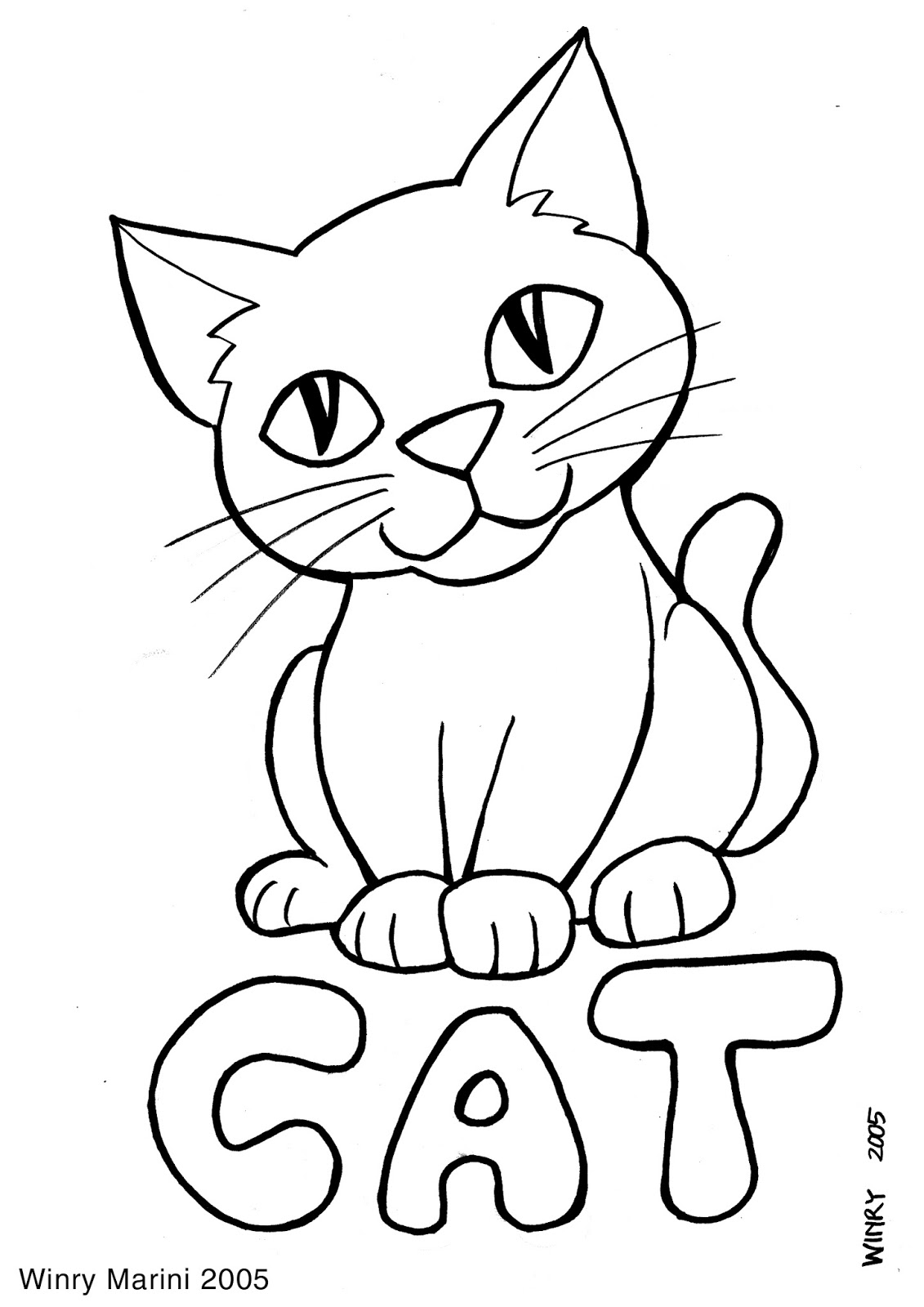 Art and Lore: Cat Coloring Page (Mewarnai Kucing)