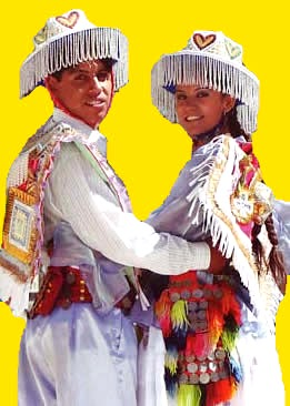 Foto de pareja con vestimenta de la danza Kullawada