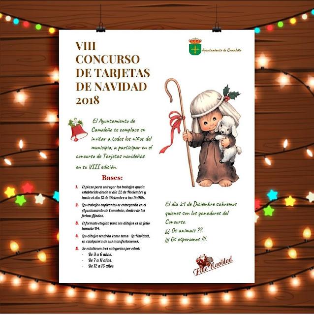 VIII Concurso de tarjetas de Navidad 2018 en Camaleño