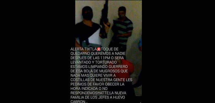 En Tixtla, grupo criminal impone toque de queda y el alcalde pide ayuda