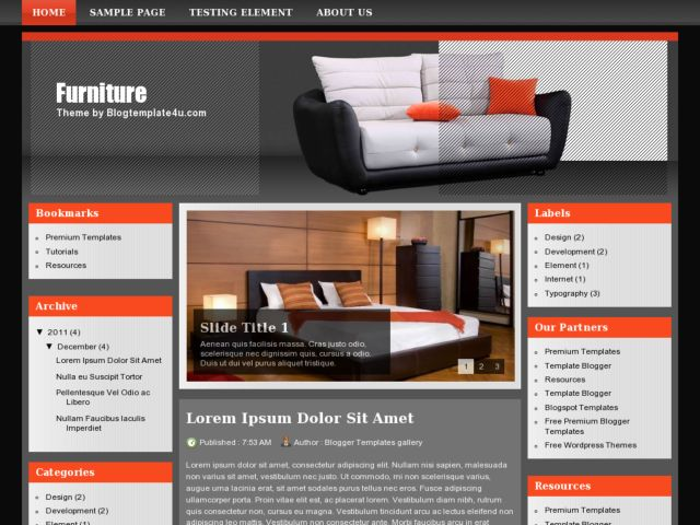 Furniture Blogger Template