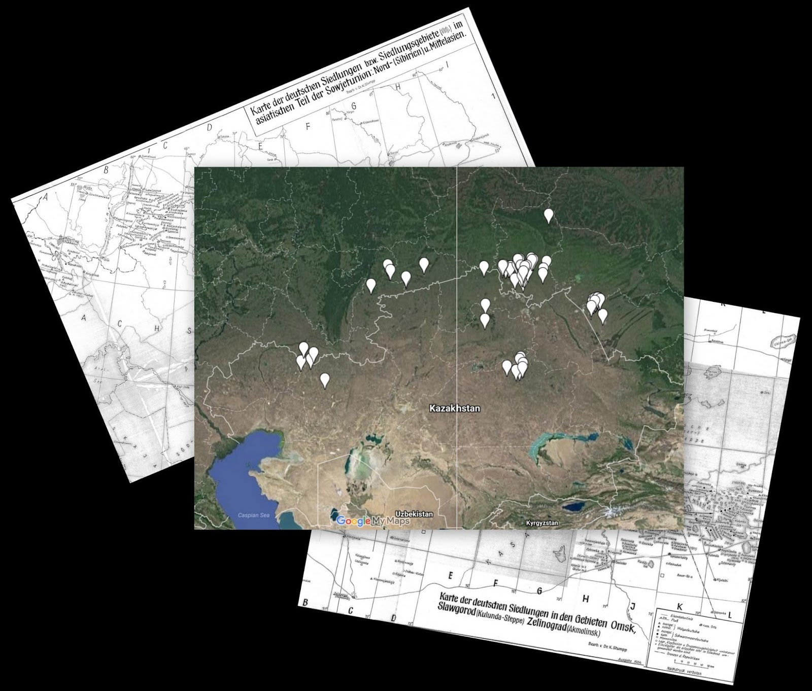 Got Karte.Germans From Russia Settlement Locations In Progress Map Of German