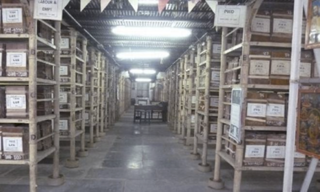 The Records Room of the Tamil Nadu State Archives, Chennai, Source: The Hindu, grjgm