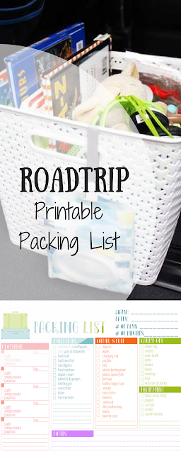 Road Tip Essentials; Kleenex Go Anywhere Packs; Packing List Printable