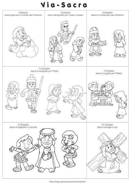 Resultado de imagem para via sacra para crianças colorido