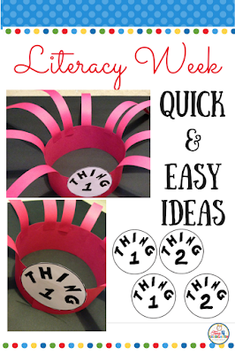Literacy Week.  Celebrate Literacy Week, Dr. Seuss' birthday and the love for reading with fun activities and free resources.  Everything you need for quick and easy activities to inspire your students to pick up a book and read.