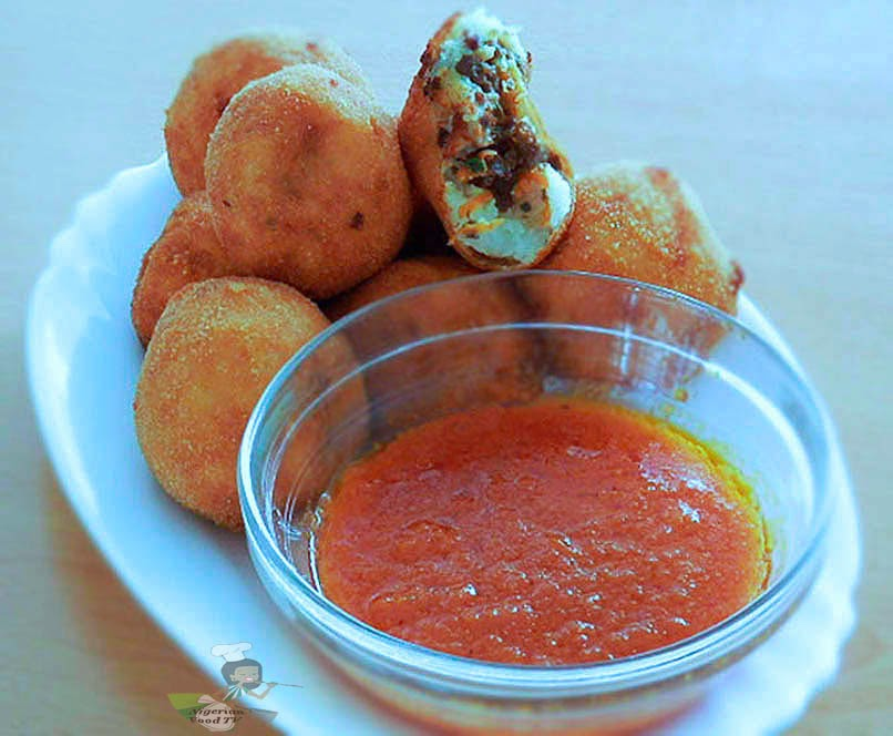Stuffed Potato Balls, Stuffed yam Balls