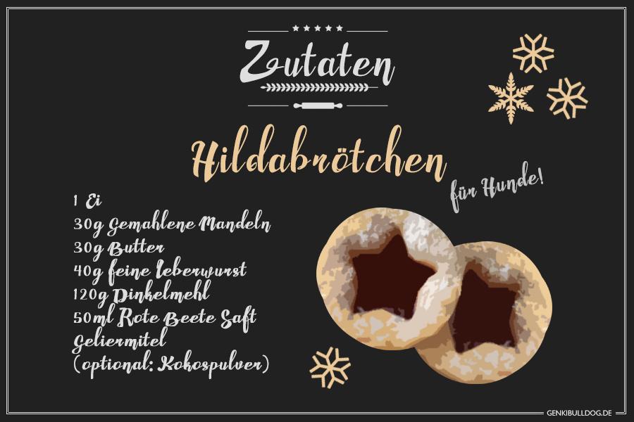 DIY Rezept: Weihnachtsplätzchen Hildabrötchen für Hunde selbst backen