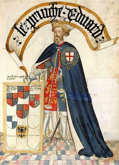 Eduardo, o príncipe negro, Príncipe de Gales, 1453, Bruges Garter Book.