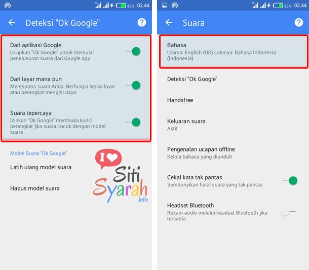 aktifkan ok google di handphone android