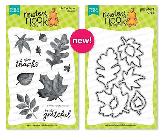 Shades of Autumn | Leaf Stamp Set and die set by Newton's Nook Designs #newtonsnook