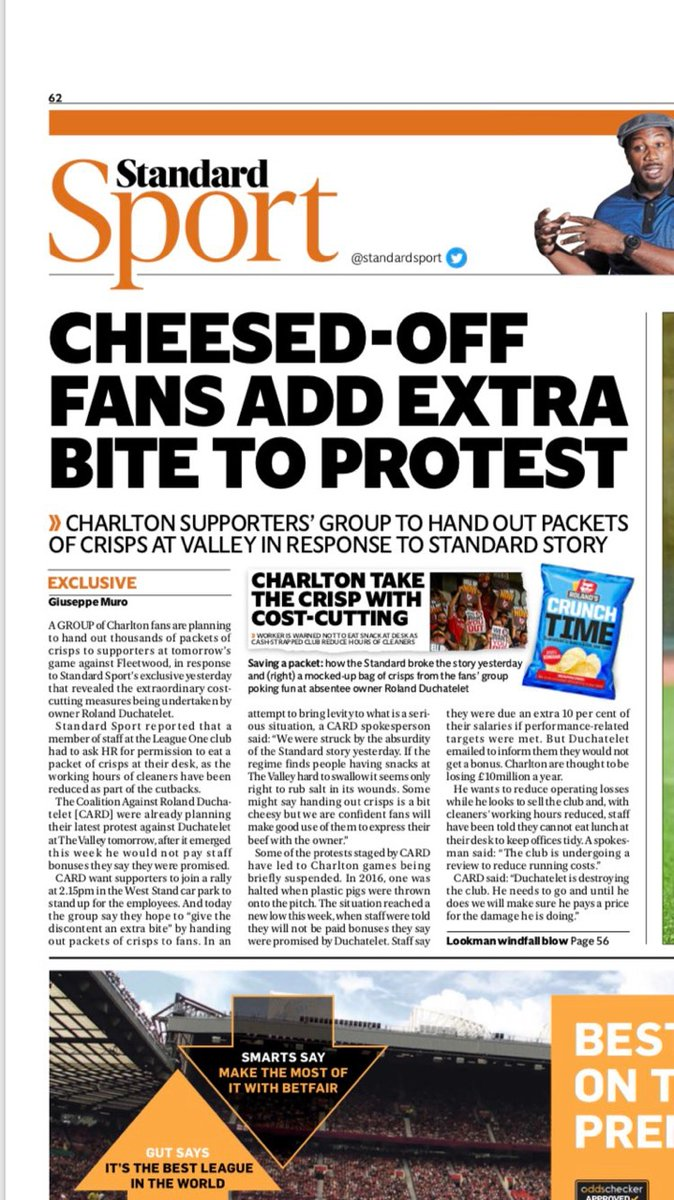 Charlton fans have another protest against their hated owner Roland Duchâtelet